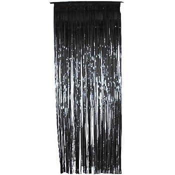 Black Metallic Shimmer Curtain 3ft X 8ft   Single