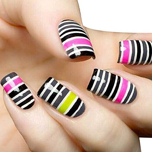 Susenstone 32Pcs Mixed Colors Rolls Striping Tape Line Nail Art Tips Decoration Sticker by Susenstone®610