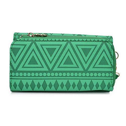 Kroo Pochette/étui style tribal urbain pour Yezz ANDY A5QP/5ei Multicolore - Noir/blanc Multicolore - vert