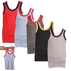 Lyril Boys Multicolor Gym Vest (Pack of 5) (ILURVest_Multi Color_70-73)