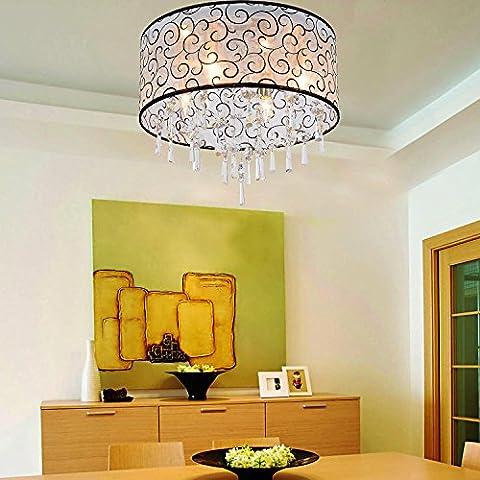 Lámpara cristal simple y elegante Lámpara de techo cristal moderna de 4 piezas para sala de estar Lámpara cristal moderna Lámpara de techo cristal para