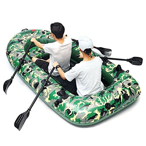 Z&hao sports fishman 2/3/4 persona pvc gonfiabile gonfiabile per barche kayak gonfiabile con pompa a pale gommone gommone barche a remi,2person198x122cm
