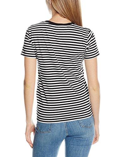 Levi's Damen T-Shirt The Perfect Pocket Tee Mehrfarbig (Gina Obsidian/Cloud Dancer 0079)