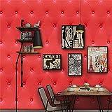 Quaan 3D Jahrgang Leder strukturiert Tapete PVC Wandgemälde Realistisch Aussehen Wasserdicht Schlafzimmer Dekor DIY Mauer Aufkleber Zuhause Küche Möbel Spiegel Windows Tür Gemälde (300cm x 40 cm, H)
