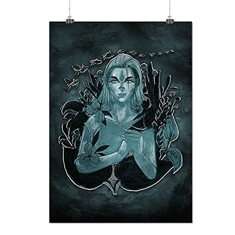 Aquarius Girl Sea Fashion Matte/Glossy Poster A3 (42cm x 30cm)