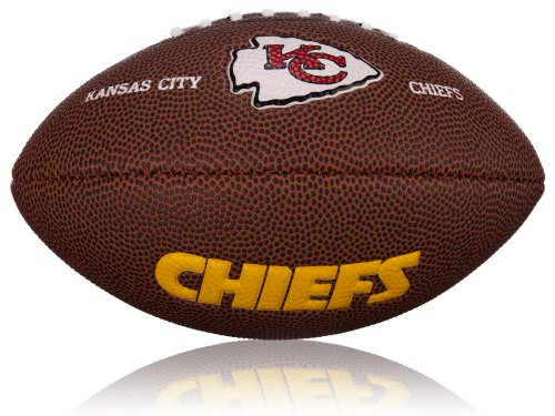 Wilson Football NFL Mini Kansas City Chiefs Logo, Braun, 2, WL0206472042 (Chiefs-nfl)