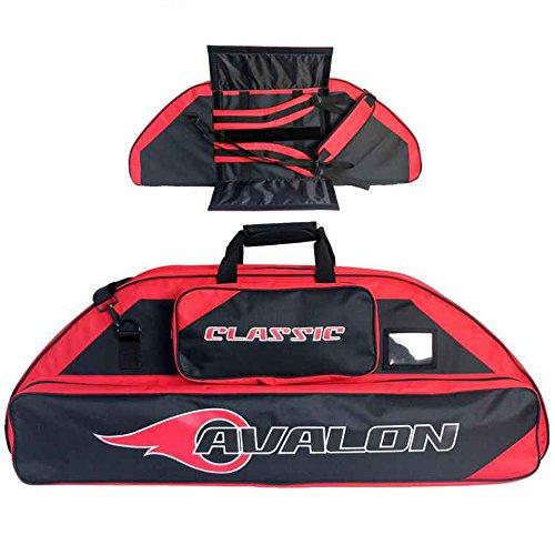 AVALON Classic - 116 cm - Compoundbogentasche mit Rucksackfunktion schwarz-rot