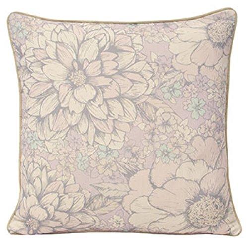 Riva Paoletti Paoletti Flora Floral Print Cushion Cover, Pastel, 45 x 45 Cm