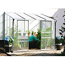 Ida 7800 Alu-Anlehngewächshaus HKP 6 mm Balkon-Gewächshaus 7,8 m² mit Fundament
