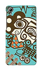 KnapCase Abstract Designer 3D Printed Case Cover For HTC Desire 828