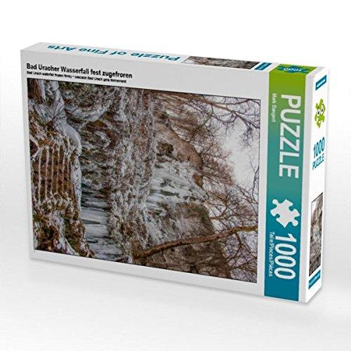 Bad Uracher Wasserfall fest zugefroren 1000 Teile Puzzle hoch (CALVENDO Natur) Preisvergleich