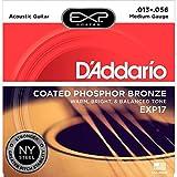 D'Addario EXP17 - Juego de Cuerdas para Guitarra Acústica de Fósforo/Bronce, 013' - 056, Naranja