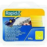 Rapid, 40107353, Bâtons de colle thermofusible, Pour les tissus, Jaune, ø12mm, Longueur 94mm, 50g