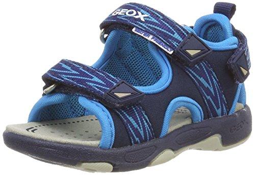 Geox multy b, sandali a punta aperta bimbo, blu (navy/turquoise), 26 eu