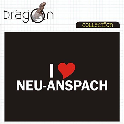 T-Shirt - i Love Neu-Anspach - Herren - unisex Schwarz