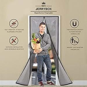 jerrybox fliegengitter t r fliegenvorhang fliegenschutz insektenschutz mit magnetverschluss. Black Bedroom Furniture Sets. Home Design Ideas