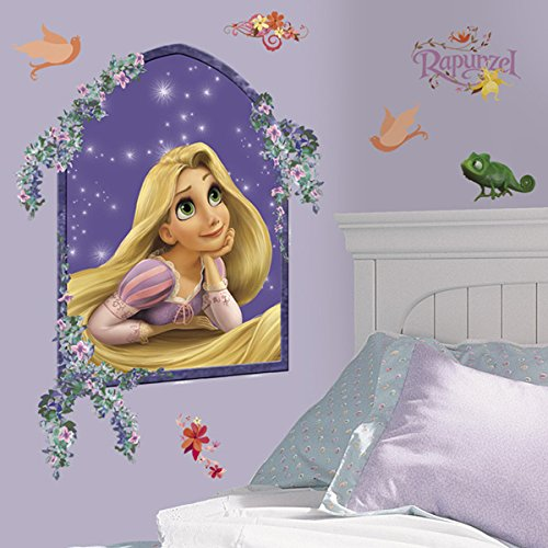 RoomMates® Jumbo Großes Disney Princess Rapunzel Flynn Prinz Wandtattoo Wandsticker Wandbild -