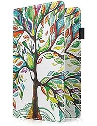 MoKo Étui Porte-Passeport Protège-Passeport, en Cuir Synthétique Prémium pour le Voyage- Lucky Tree