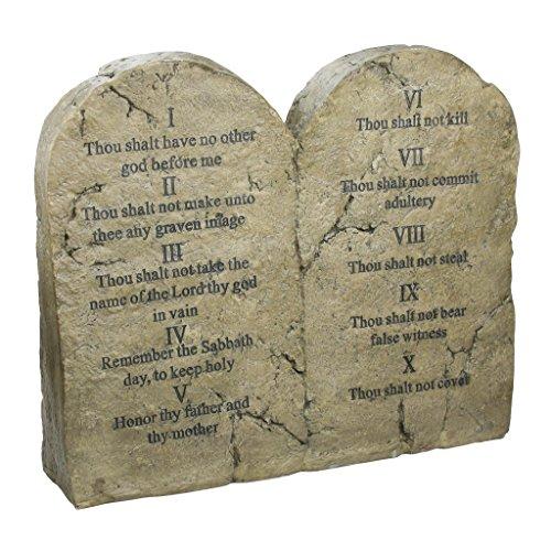 Design Toscano Die Zehn Gebote, Skulpturale Tafeln