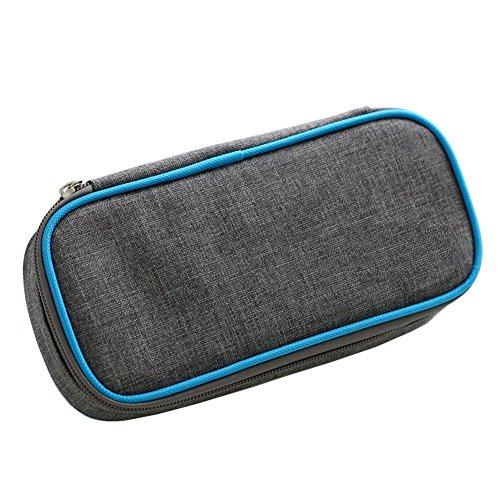 Ymmonlia borsa termica per insulina, organizer per diabetici, borsa da viaggio con 2 buste per ghiaccio, medical borsa frigo per mantenere l'insulina e medicinali