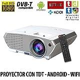 Luximagen SV350  - Proyector con Android, TDT, USB, HDMI, VGA, AC3, Full HD soportado, Blanco