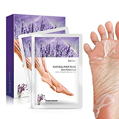APRITECH® 2 Pairs lavender Foot Mask, Exfoliating Foot Mask Remove Calluses & Dead Skin Cells,Baby Your Foot in 7 days for Mother's Day Gift