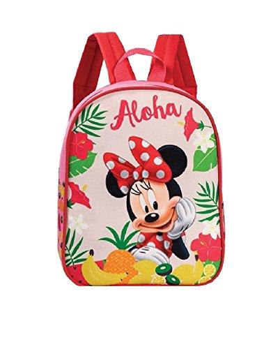 Kinder Rucksack - Disney - Minnie Mouse - Minnie Maus - Aloha - Kinderrucksack - mit Hauptfach- türkis (Maus Home Disney)
