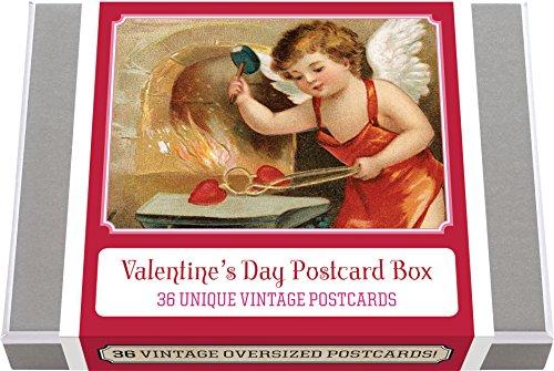 Valentine's Day Postcard Box - 36 Unique Vintage Postcards