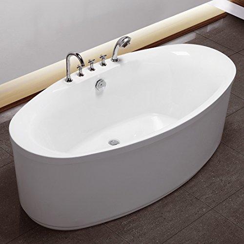 Freistehende Acrylwanne D-8002 weiß