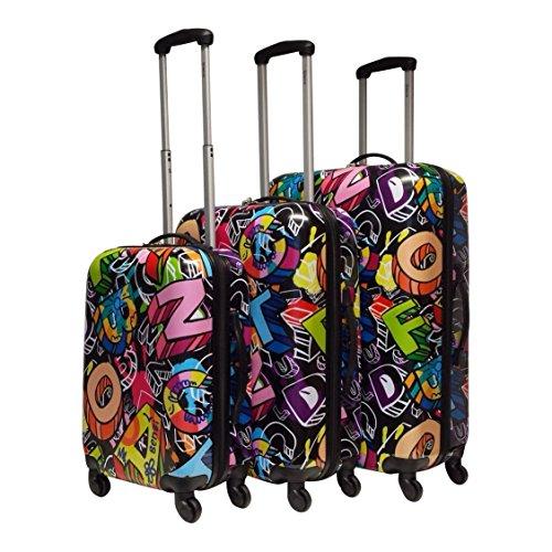 Benzi - hartschale - Kofferset - 3 Teilig - Graffiti