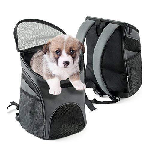 QHorse Reisetasche Transportboxen Carrier Hundetasche Hundetragetasche Katzentragetasche Atmungsaktiv Reise Hunde Katzen Kleintiere Haustiere Tragetasche Transporttasche Transportbox