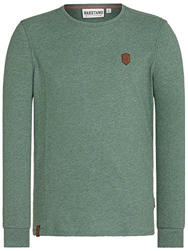 Naketano Male Sweatshirt Italienischer Hengst Langen pine green melange