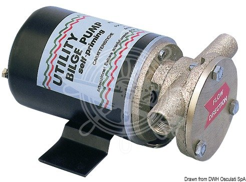 Osculati Bilgenpumpe, selbstansaugend 12V 7A Ausführ. B