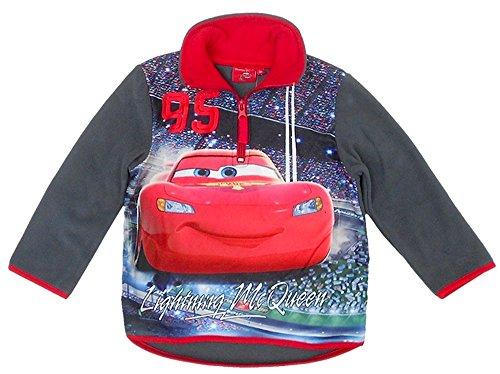 Disney Cars Fleece Pullover Sweatshirt, dunkelgrau, Gr. 128 Disney Fleece-sweatshirt