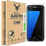 iSOUL Protection d'écran Premium en verre trempé de qualité pour Samsung Galaxy S7, dureté de 9H et installation facile sans bulles, compatible avec les écrans tactiles 3D.