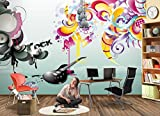 Fototapete MUSIK ROCK ABSTRAKT Nr.8TG-616 Bildtapete Wandbild Riesenbild Poster Wanddekor Tapeten Wandtatoo Dekor Kinder Sticker Bordüre children wallpaper kids wall mural