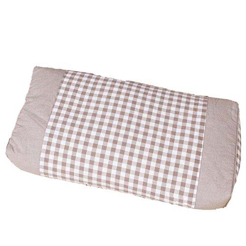Mode Gewaschener Baumwolle Buchweizen Kissen Zervikale Gesundheit Kräuter-Massagekissen 25 * 50cm,Coffee