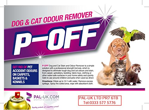 P-Off Urine Smell Remover - Enzyme Powered Odour Cleaner Gets Dog and Cat Urine Off - Carpet Cleaner + Pet Stain Remover 2