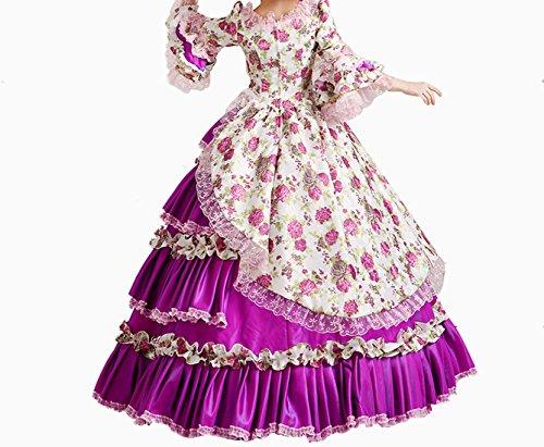 Nuoqi Femmes Satin gothique victorien princesse robe Halloween Fancy Dress Cosplay Costume CC2957A-NI