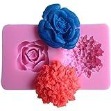 LYNCH flor forma de la torta que adorna las herramientas utensilios de cocina antiadherente pasta de azúcar del molde,Rosa