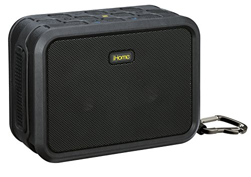 Ihome Portable Stereo (iHome IBN6BXXC Wireless Bluetooth Portable Waterproof Stereo Speaker w/3. 5mm Auxiliary, USB Charging & Carabiner)