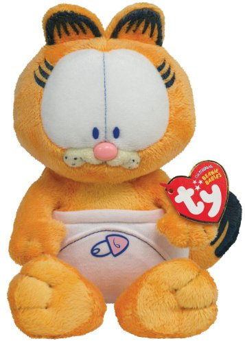 Ty Beanie Baby - Baby Garfield With Nappy