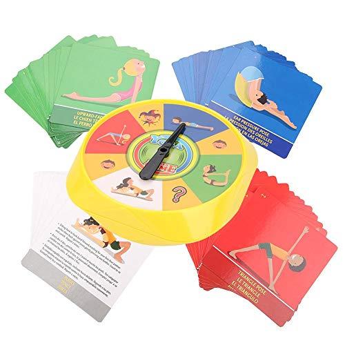Wandisy Yoga Pose Kids Cards, Juego Interactivo para Padres e Hijos