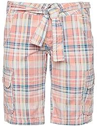 SUBLEVEL Damen Bermuda-Shorts   Karierte kurze Hose aus reiner Baumwolle
