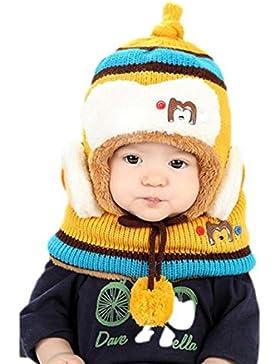 Malloom Niedlich Winter Baby Kinder Mädchen Jungen Warm Woll Haube Schal Mützen Hüte