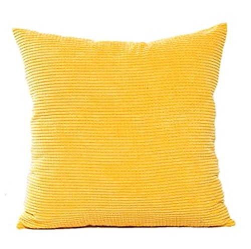 wicemoon Maiskörner Kissen Fall Farbe einfach Kissenbezüge Cord Kissen Sofa ohne Core, Polyester, gelb, 45*45CM