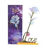 Hozora Strahlende ewige Crystal Gold Rose, künstliche Bunte Rose Blume einzigartige romantische Geschenk für Valentinstag, Jubiläum, Muttertag, Geburtstagsgeschenk