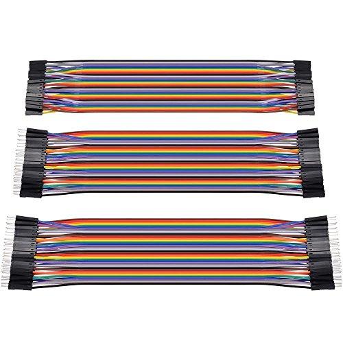 Zacro 3 en 1 Dupont Wire Jumper Cable (40P 20cm) 2.54 1P-1P - mâle-mâle /femelle-femelle/femelle-mâle