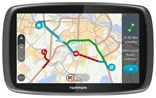 TomTom GO 61 World Traffic Navigationssystem (15 cm (6 Zoll) resistives Touch Display - Bedienung per Fingergesten, Lifetime TomTom Traffic & Maps, Weltkarten)