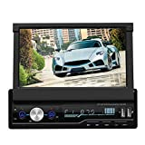 Bewinner 7 Zoll Doppel Din Android Autoradio Einziehbarer Auto Video Player GPS Navigation MP5 Player Touchscreen Radio Player, In-Dash-Autoradio Multimedia Player
